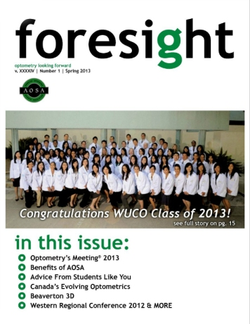 2013 Spring Foresight is available for you to read online here