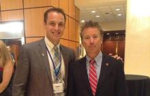 AOSA President James Deom (Salus-PCO) meets with Senator Rand Paul (likely 2016 Presidential Candidate) who addressed the Congressional Advocacy Conference Sept. 10